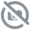 Flamingo with pompom earrings